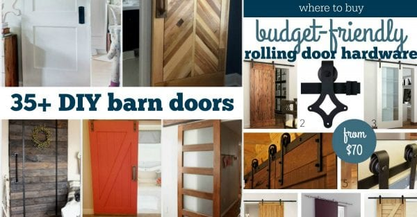 35 DIY Barn Doors And Hardware Plus Budget Friendly Places To Buy Rolling Door Hardware @Remodelaholic