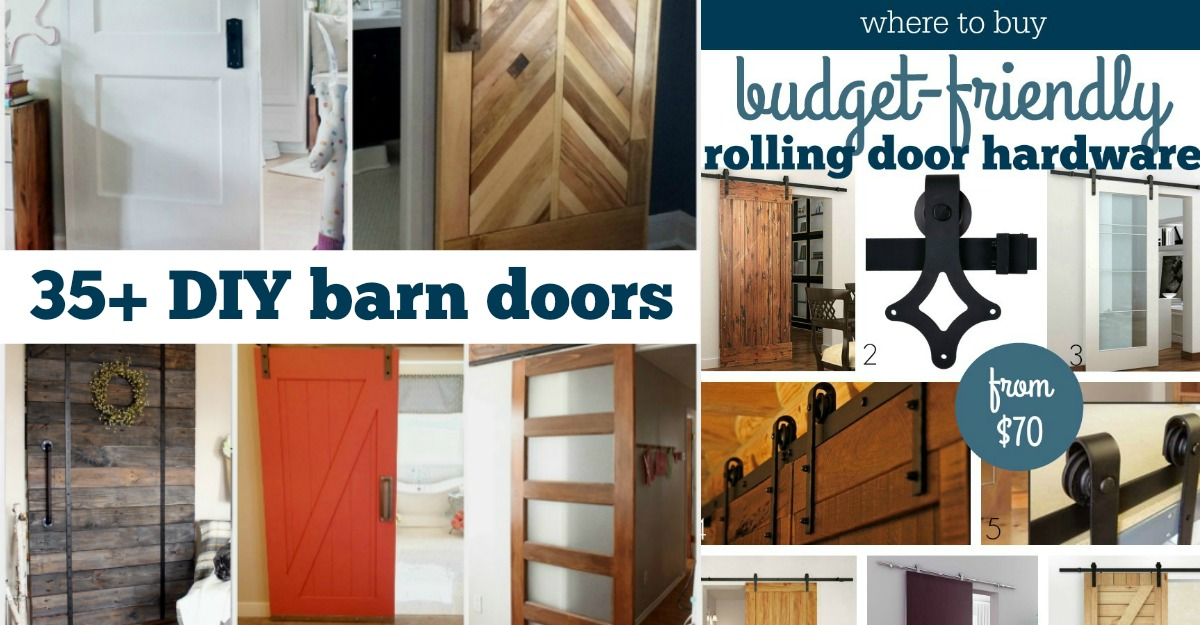 & Remodelaholic | 35 DIY Barn Doors + Rolling Door Hardware Ideas