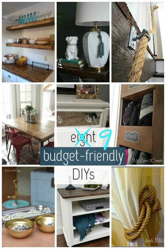 9 Budget-Friendly DIYs via @Remodelaholic