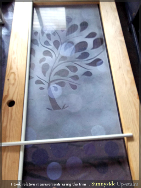 Adding a Frosted Glass Pane to a Hand Built Door by Sunnyside Up-stairs featured on @Remodelaholic