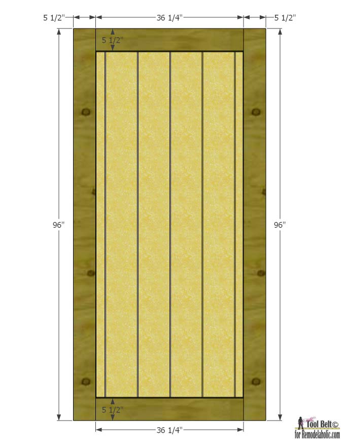 Build A Beautiful Sliding Barn Door With Great Detail Using Siding! Free  Plans And Tutorial