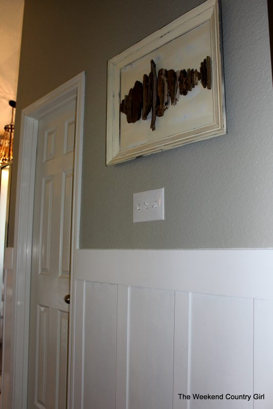 Bathroom Makeover with Board and Batten by The Weekend Country Girl featured on @Remodelaholic
