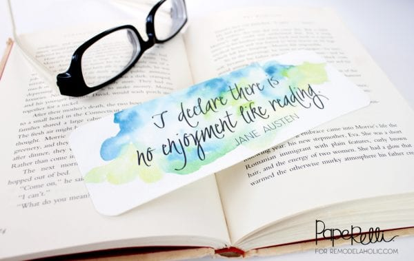 Printable Bookmark | Paperelli for Remodelaholic.com