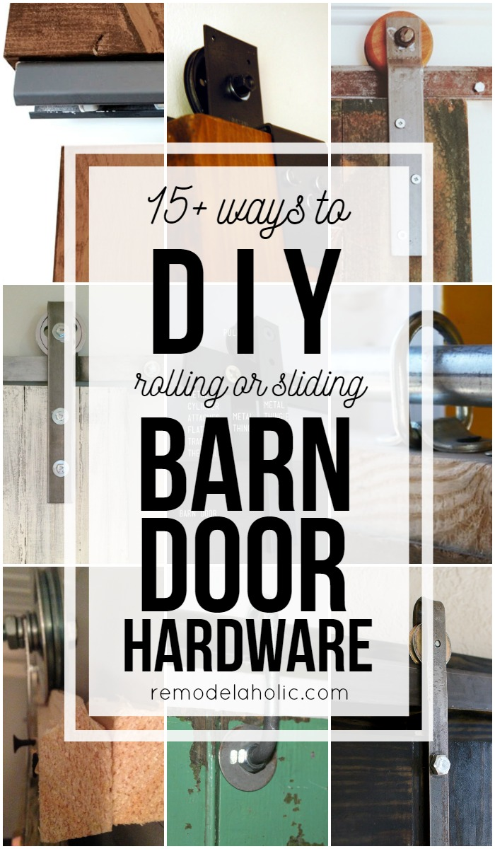 Diy Bypass Barn Door Hardware remodelaholic | 35 diy barn doors + rolling door hardware ideas