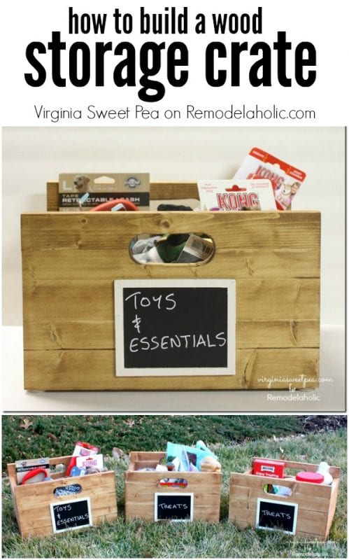 Build a wood storage crate -- perfect for a pantry or mudroom @Remodelaholic