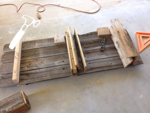 Building a Rustic Bathroom Shelf by The Weekend Country Girl featured on @Remodelaholic