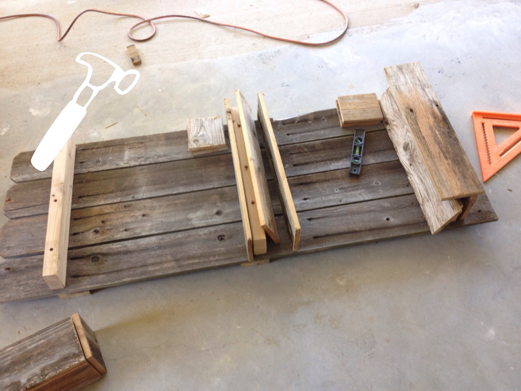building a rustic bathroom shelf by the weekend country girl featured on