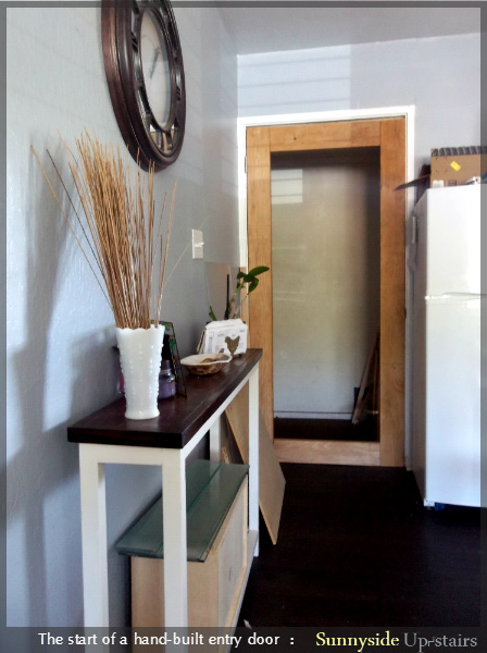Building an Entry Door by Sunnyside Up-stairs featured on @Remodelaholic