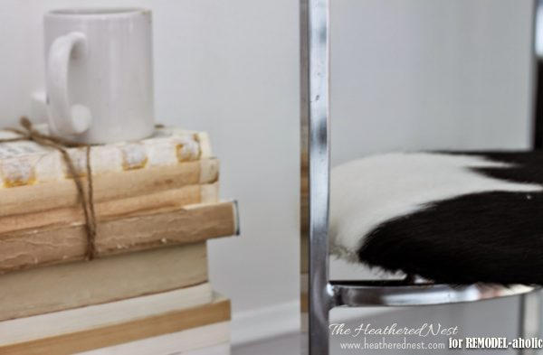 Chrome chair update and repair by The Heathered Nest featured on @Remodelaholic