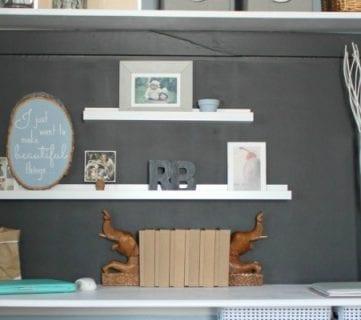 Making an Organized Closet Office Craft Space