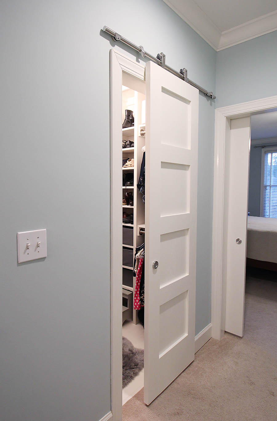 Closet Door mirrored closet door parts images : Remodelaholic | 35 DIY Barn Doors + Rolling Door Hardware Ideas