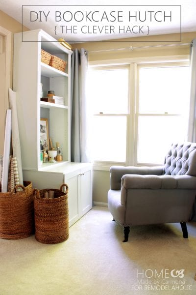 DIY Bookcase Hutch Hack - Home Made by Carmona for Remodelaholic