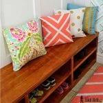DIY Shoe-shelf bench