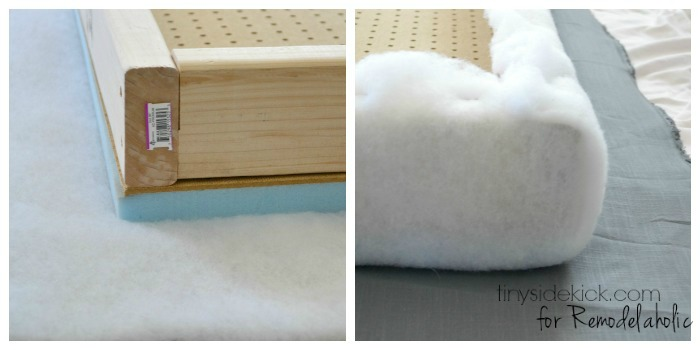 Inspirational DIY Upholstered Headboard Tutorial TinySidekick for Remodelaholic