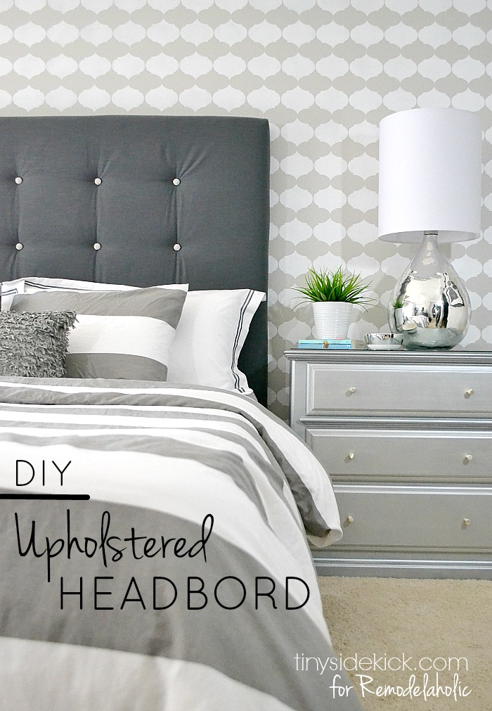 Remodelaholic | DIY Tufted Upholstered Headboard Tutorial