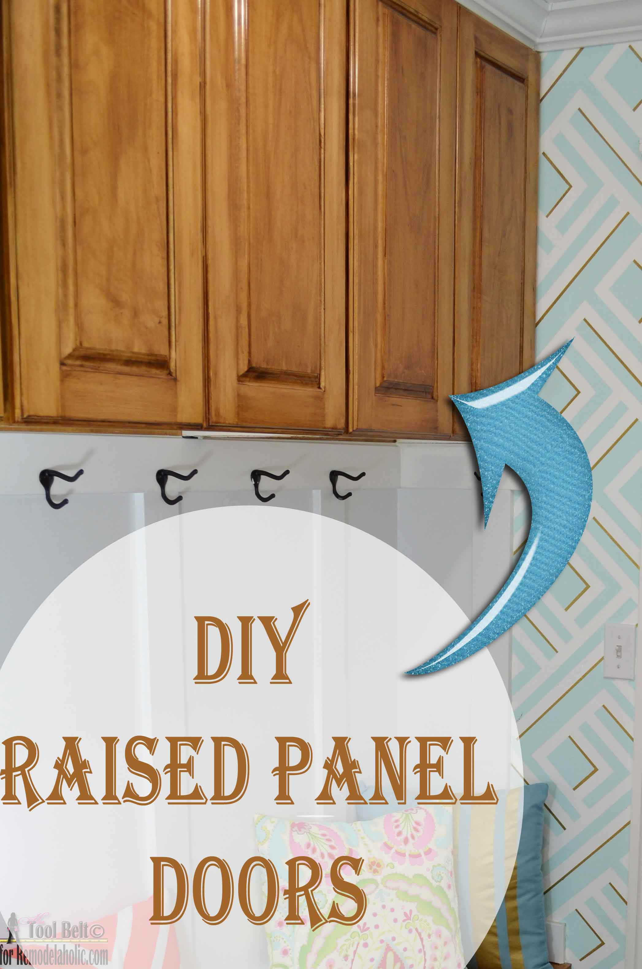 Remodelaholic | Raised Panel Cabinet Doors