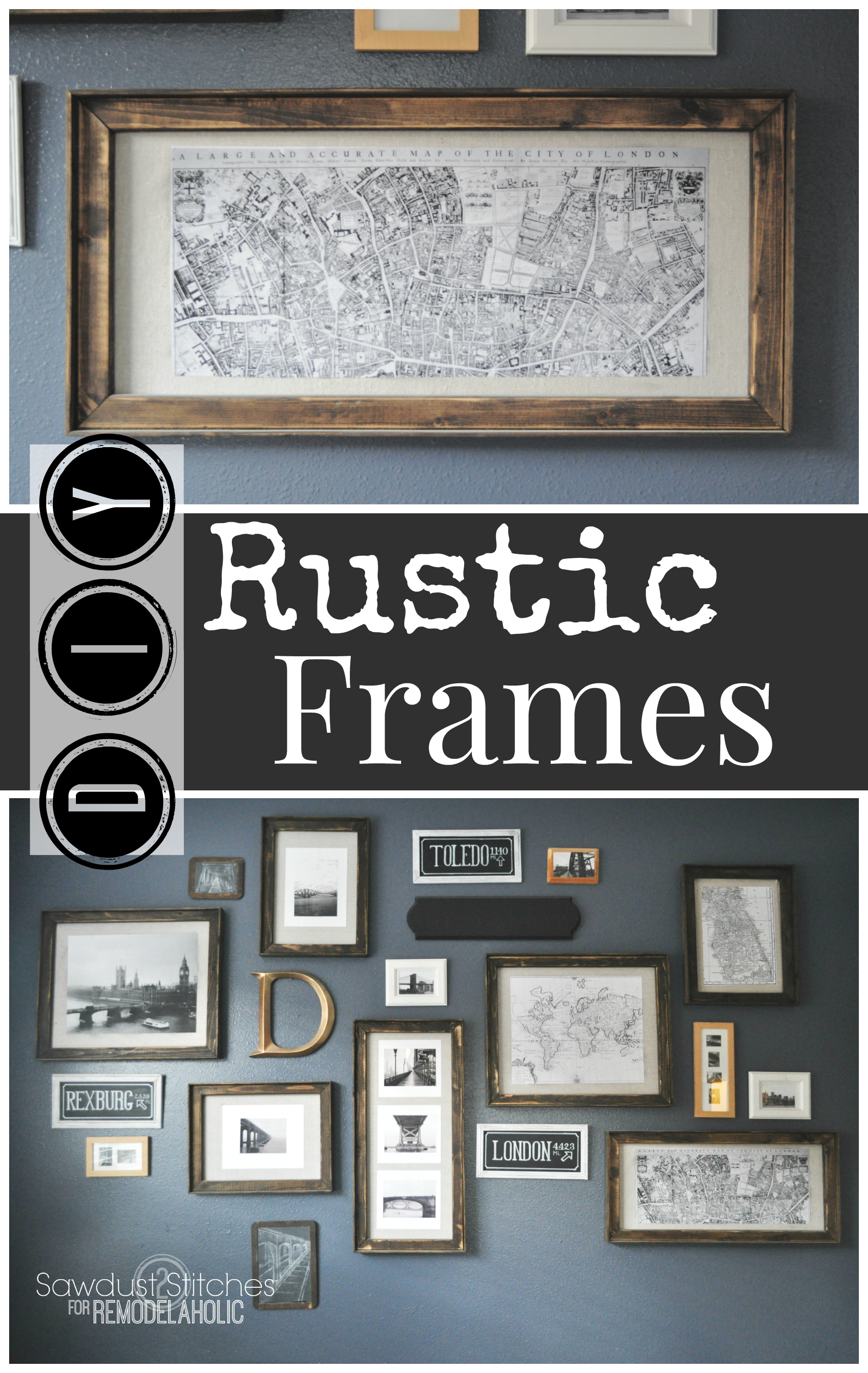 Remodelaholic 3 diy rustic frames easy and inexpensive pottery barn style diy rustic frames any size jeuxipadfo Images