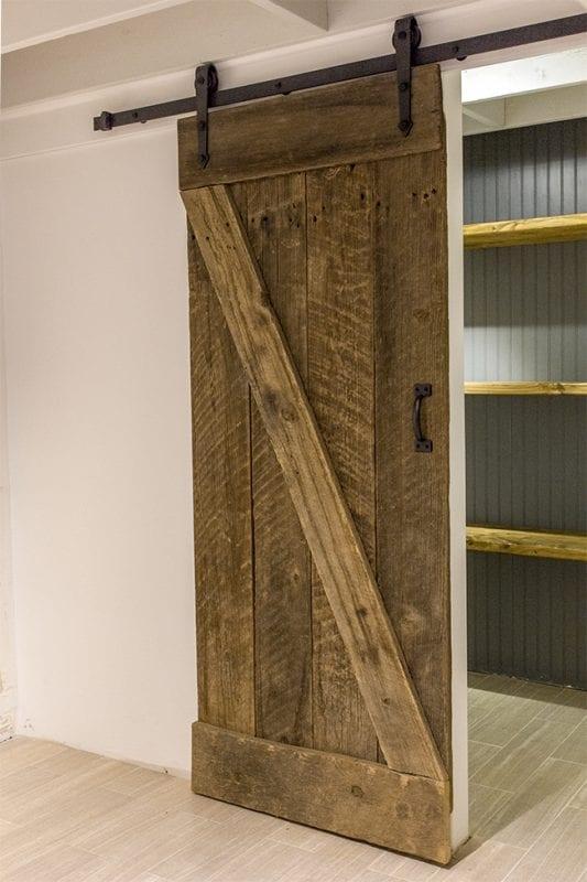 DIY rustic barn door and sliding hardware - Jenna Sue Design