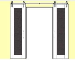 DIY sliding message doors feature