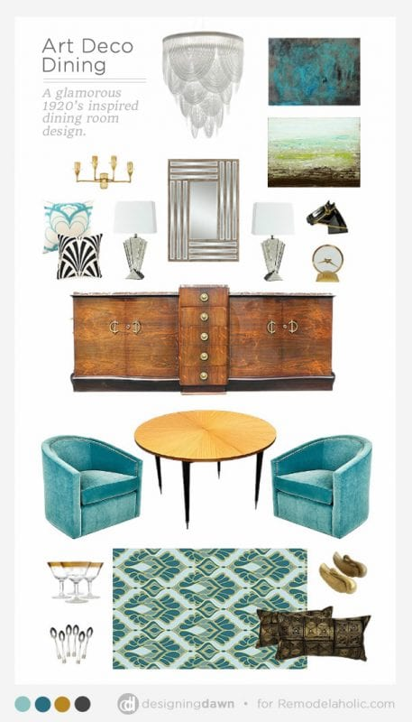 Designing Dawn for Remodelaholi.com - Art Deco Dining