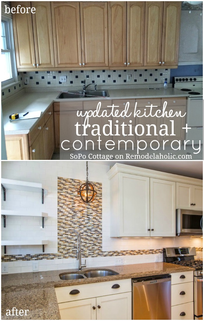 Remodelaholic Creating a Traditional Kitchen with Contemporary Flair