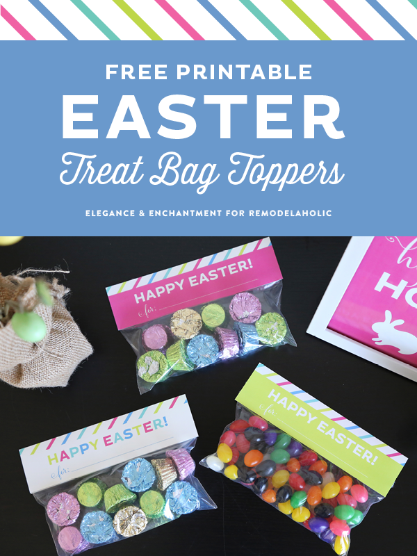 Free Printable Easter Treat Bag Toppers // Elegance and Enchantment for Remodelaholic.com
