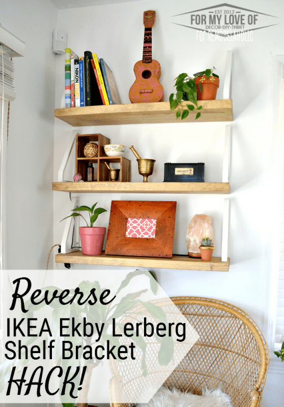 Easy Wall Shelf with Reverse Ikea Lerberg Hack Remodelaholic
