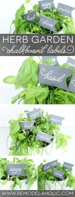 So cute, so easy! Herb Garden Chalkboard Labels | By Paperelli for Remodelaholic.com