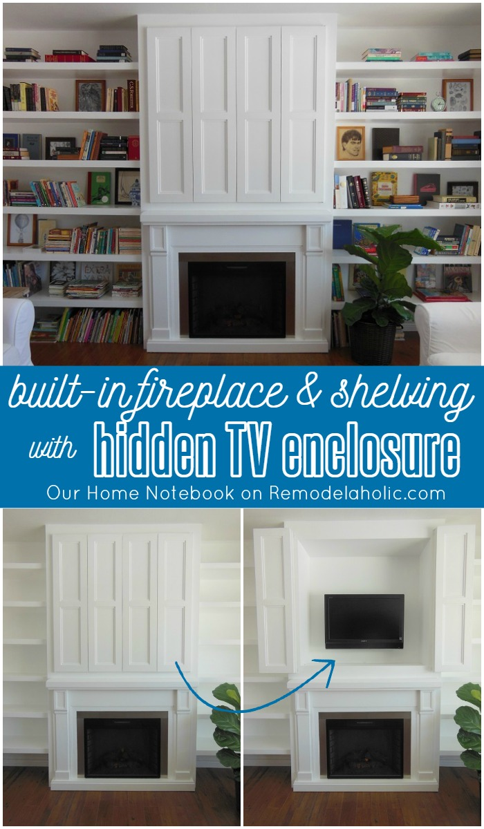 Enjoyable Built In Fireplace Surround And Shelving With Hidden Tv Nook Download Free Architecture Designs Scobabritishbridgeorg
