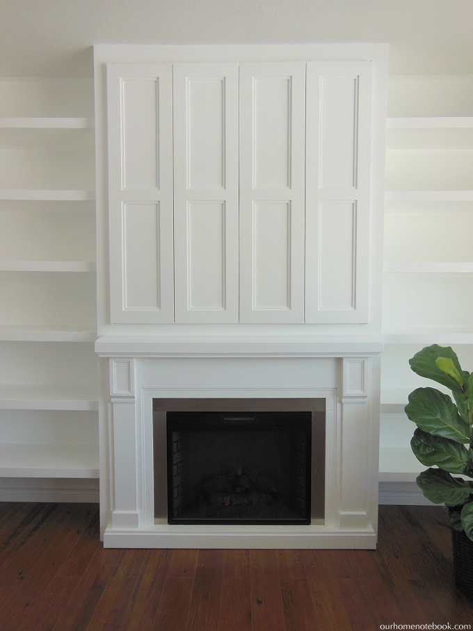 Remodelaholic Built In Fireplace Surround And Shelving