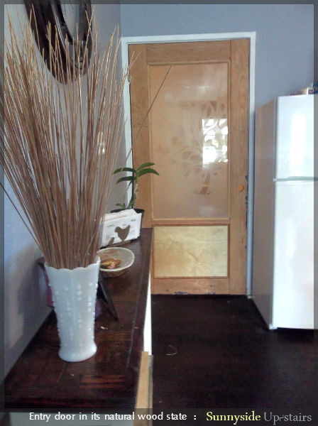 How to Build an Entry Door with a Frosted Glass Pane by Sunnyside Up-stairs featured on @Remodelaholic