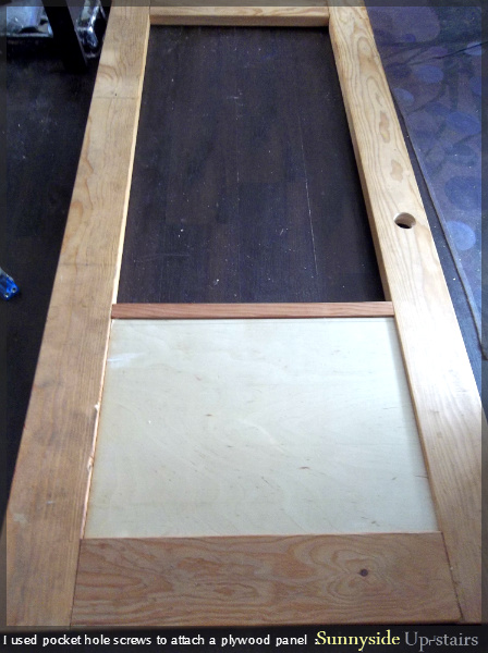 How to Build an Entry Door with a Glass Pane by Sunnyside Up-stairs featured on @Remodelaholic