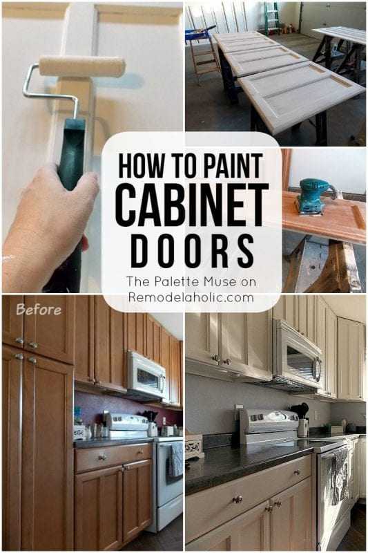 How to paint cabinet doors remodelaholic bloglovin for Best way to paint kitchen cabinets video