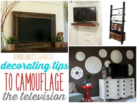 How to hide or camouflage the television