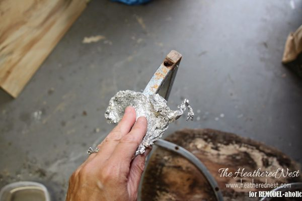 How to repair and refinish a rusty chrome 02 by The Heathered Nest featured on @Remodelaholic