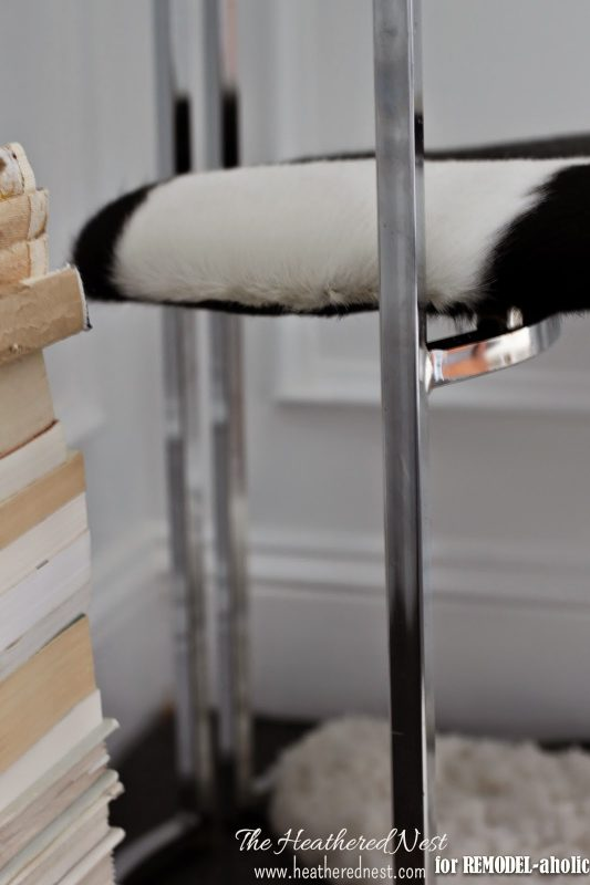 How to update and repair a chrome chair by The Heathered Nest featured on @Remodelaholic