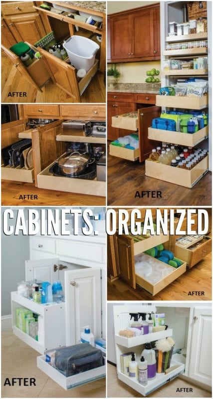 Organized cabinets that both work well and look amazing