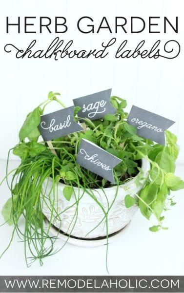 Herb Garden Chalkboard Labels