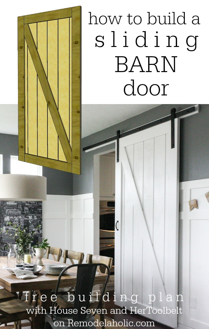 Remodelaholic simple diy barn door tutorial for How to build a side by side