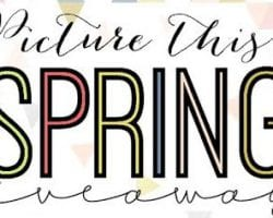 Spring giveaway featured image