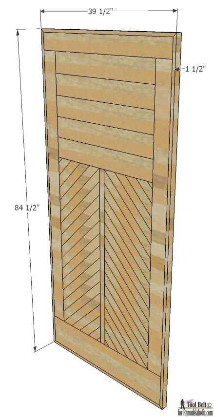 How to Build a Wood Chevron Barn Door   Remodelaholic   Bloglovin'