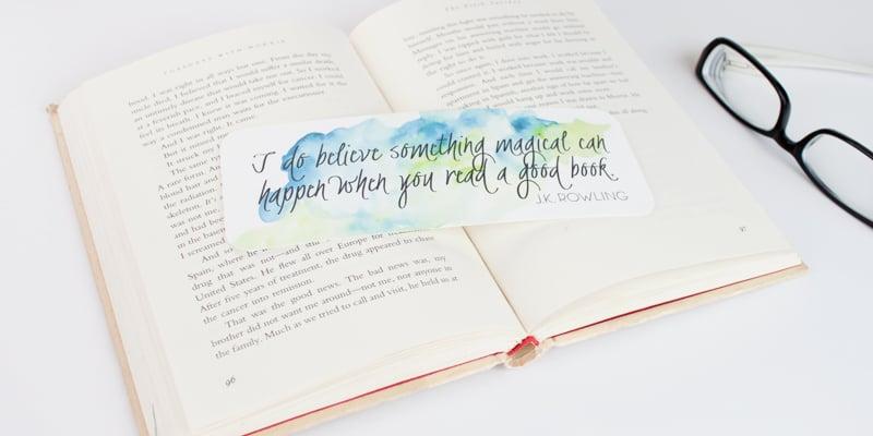 Remodelaholic Free Download Watercolor Printable Bookmarks
