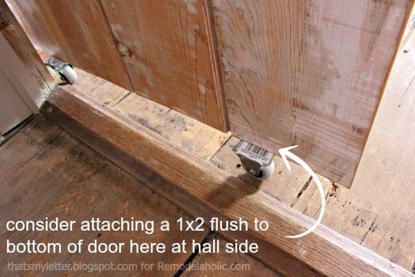 barn door hall side