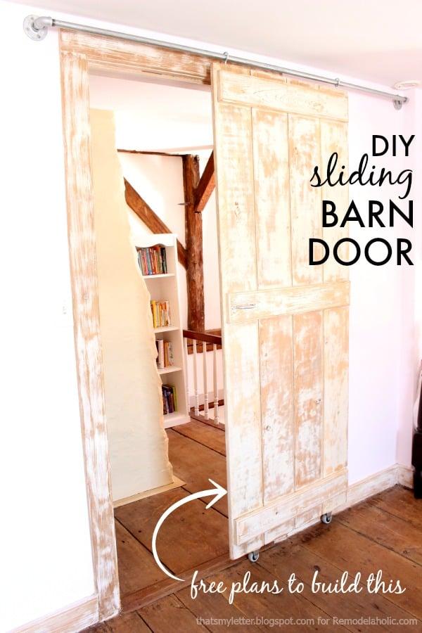 Remodelaholic Diy Sliding Barn Door Inexpensive Hardware