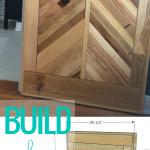 Build A Chevron Barn Door, Wood Herringbone Barn Door, Woodworking Plans, Remodelaholic