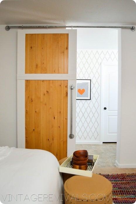 build a simple two-tone sliding barn door - Vintage Revivals