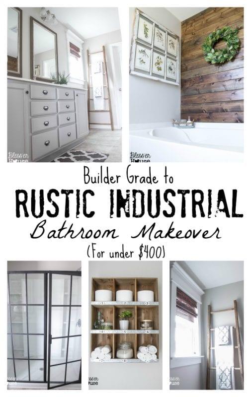 rustic industrial bathroom makeover
