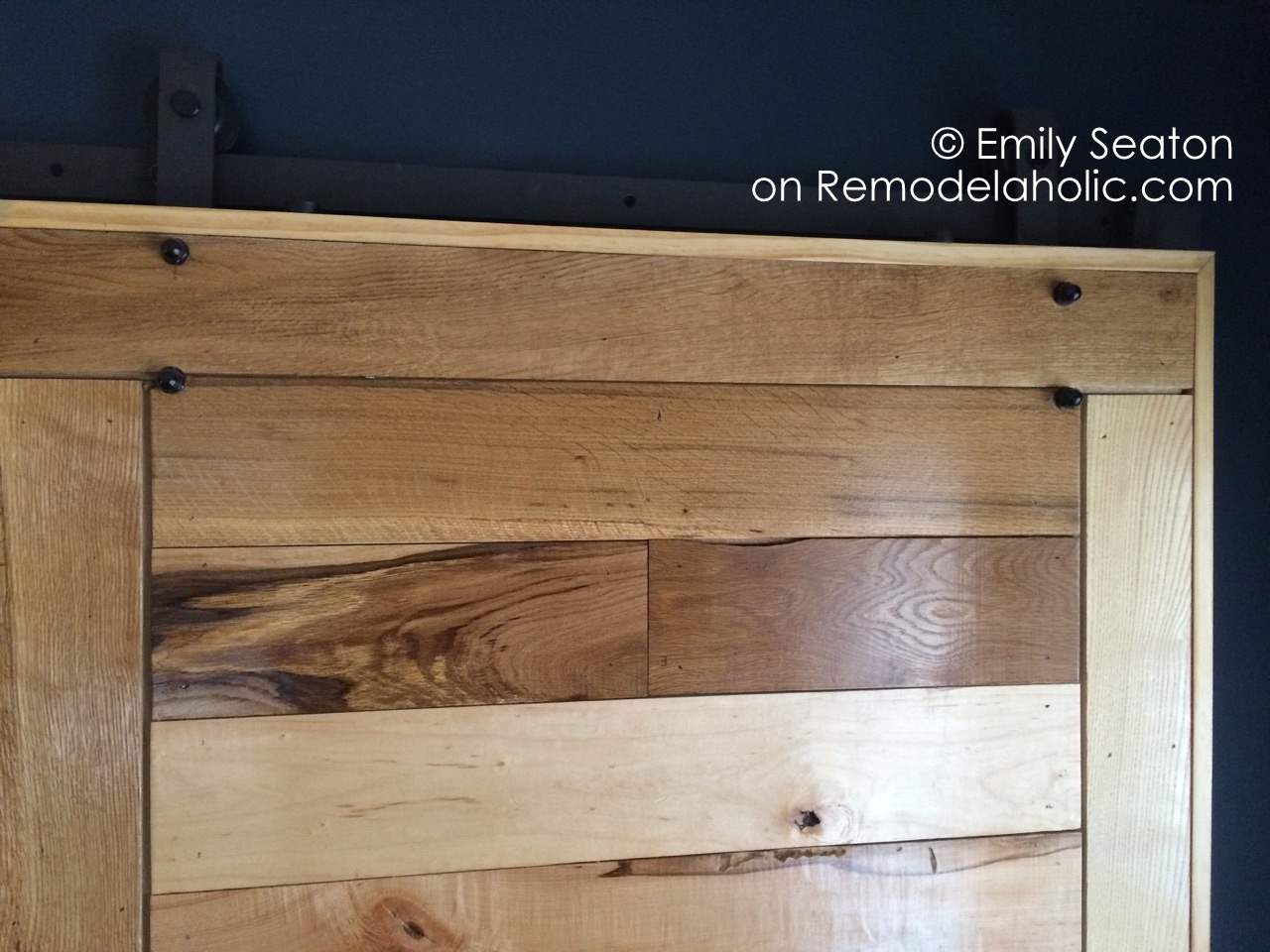 How To how to build door pics : Remodelaholic | How to Build a Wood Chevron Barn Door