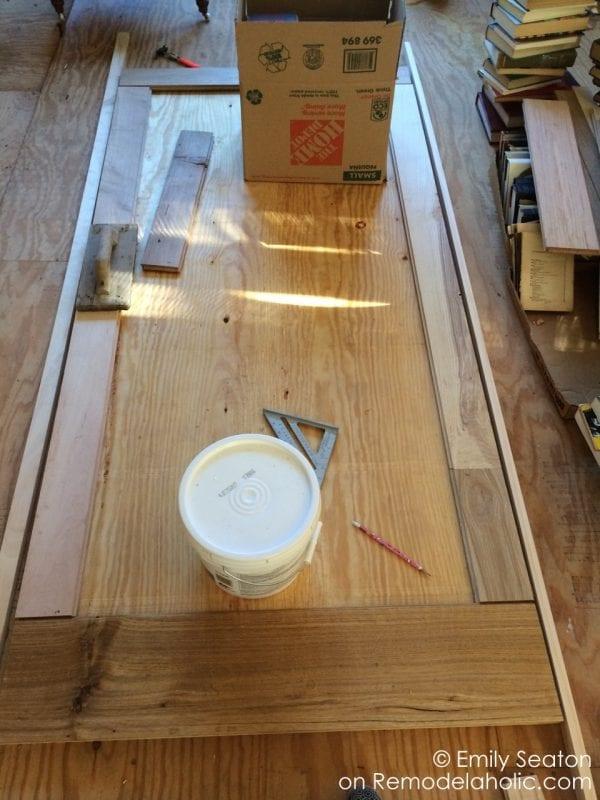 diy reclaimed wood herringbone barn door, chevron barn door