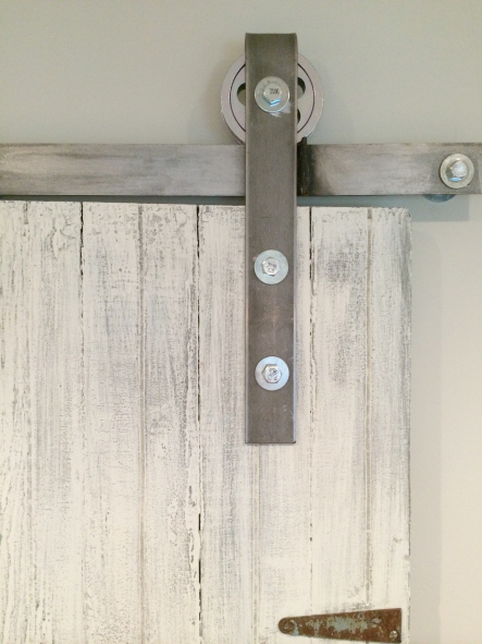 diy rolling barn door hardware - Sweet Maple Blog